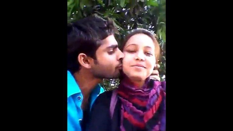 मुस्लिम-बॉयफ्रेंड-में-गार्डन-में-लड़की-को-किस-किया