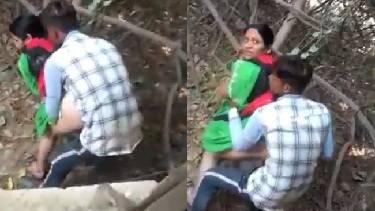 झाड़ियों में चोदते हुए बिहारी और देसी रंडी को पकड़ा