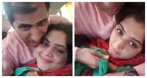 पाकिस्तानी मियां बीवी की कार किसिंग