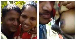 बॉयफ्रेंड के साथ जंगल में किसिंग और बूब्स सकिंग का मजा लेती देहाती मराठी लड़की