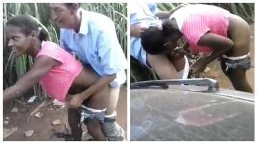 बूढ़े अंकल ने खेत में चोदी जवान अफ्रीकी लड़की