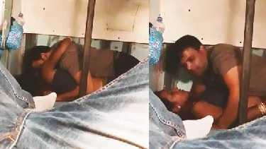 पति के साथ चलती हुई ट्रेन में रोमांस किया भाभी ने. देखें भाभी के उपर चढ़ के पति ने उसकी चूत पर लंड भी घिसा इस हॉट वीडियो में.