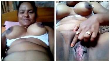 बड़े बूब्स काली चूत वाली देहाती लड़की का हस्तमैथून