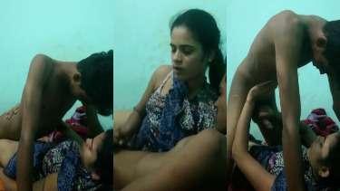 चुदाई के दौरान बॉयफ्रेंड का लंड जोर जोर से हिलाकर देती गर्लफ्रेंड