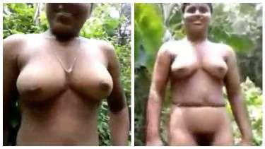 साउथ इंडियन लड़की जंगल में सारे कपड़े उतारकर नंगी चुदी