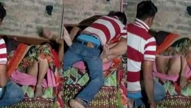 घरेलू रंडियों की रात में चुदाई करते कस्टमर को चुपके से फिल्माया