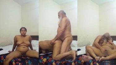 मुस्लिम ससुर बहु की चुदाई होटल के कमरे में चूत में ऊँगली कर के - वीडियो