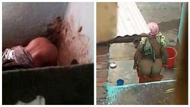 मेरी पड़ोसी भाभी और आंटी को नहाते हुए चुपके से देखा